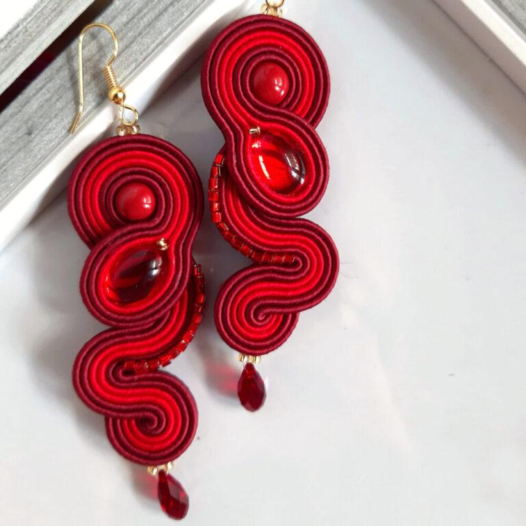 orecchini rossi