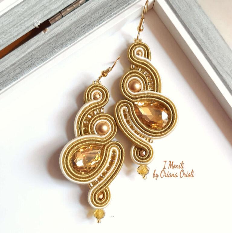 orecchini cristalli e oro I monili by oriana orioli