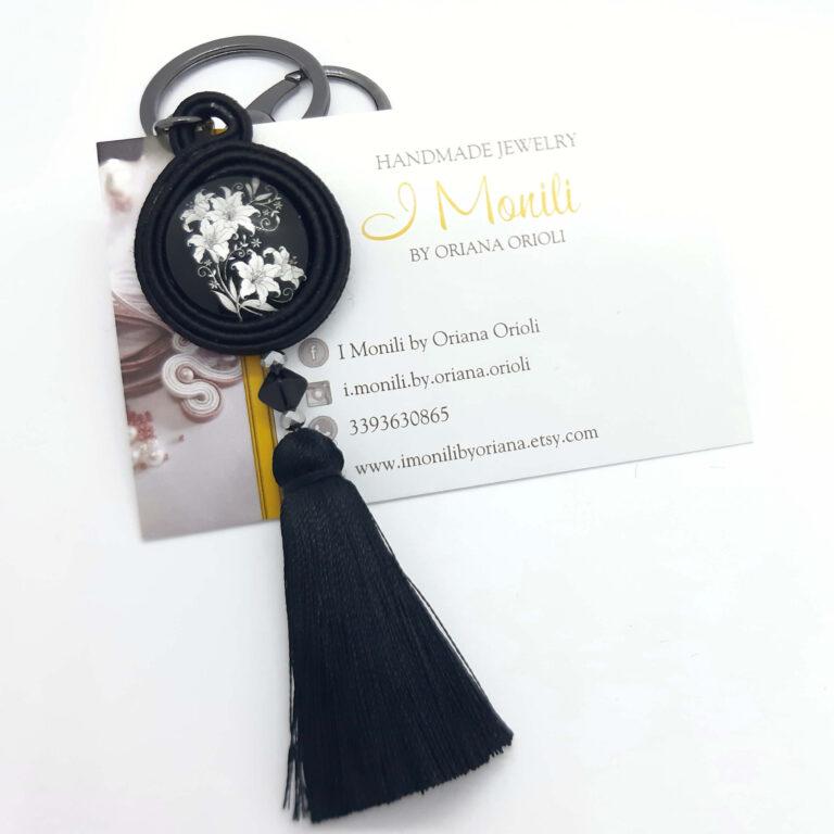 ciondolo da borsa pendente nero